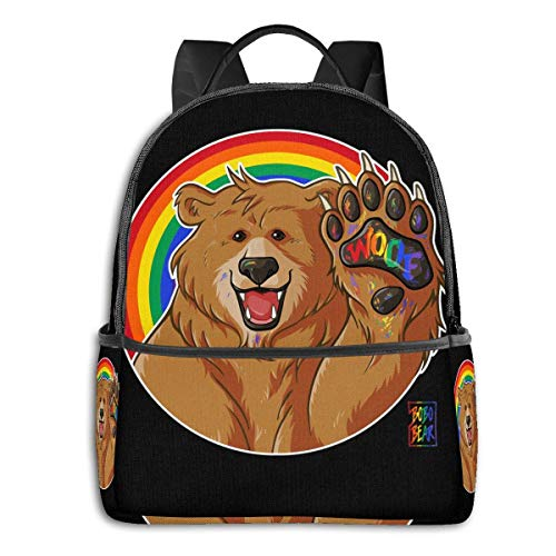 XCNGG Anime & Bobo Likes to Woof - Gay Pride Classic Student School Bag School Cycling Leisure Travel Camping Outdoor Backpack