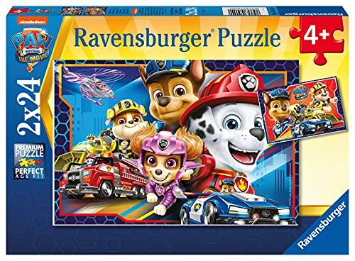 Ravensburger Kinderpuzzle - 05154 Allzeit bereit! - Puzzle für Kinder ab 4 Jahren, Paw Patrol Puzzle mit 2x24 Teilen