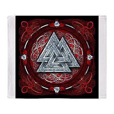 "CafePress Norse Valknut Tapestry Red Throw Blanket Soft Fleece Throw Blanket, 50""x60"" Stadium Blanket"