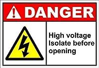 高電圧絶縁前に絶縁OSHA ANSIサインブリキサインサインヤードヤード屋外サイン