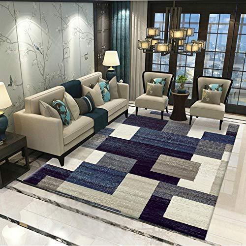 Alfombra Geométrica Uso Interior y Exterior Rectangular Tridimensional Simple Gris Adecuado para salón Dormitorio baño sofá Silla cojín,160x230(63X90inch)