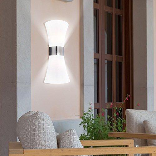 LED Außen Wand Lampe Edelstahl Leuchte Garten Design Beleuchtung Veranda Edelstahl