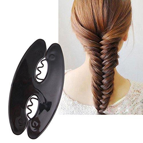 Display08 Femme Tresse Cheveux Outil Magic Twist Roller Tissage Fish Bone Coiffure Cheveux Clip DIY