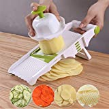 Mandoline slicer,mini food processor, Potato cutter shred and spiral cutter 5 stainless steel blade...