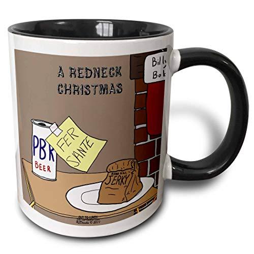 N\A Mug_38588_4 'Uno spuntino di Babbo Natale alla vigilia di Natale con Birra e Carne secca' Tazza Nera Bicolore, Multicolore