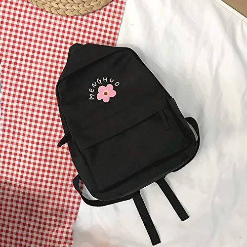 ZZYJYALG Monedero de mochila para las mujeres, la versión coreana japonesa, el departamento de lienzo de Whun-A Kim Wind, altos estudiantes de secundaria de secundaria, hombres y mujeres estudiantes u