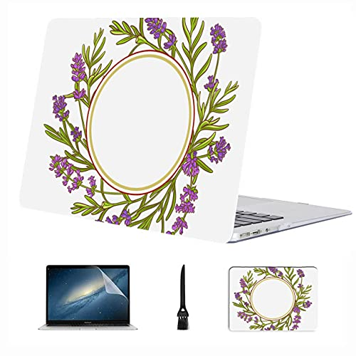 Macbook Accessories 13 Inch Charming Romantic Purple Lavender Plastic Hard Shell Compatible Mac Air 13' Pro 13'/16' Mac Pro Cover Protective Cover For Macbook 2016-2020 Version