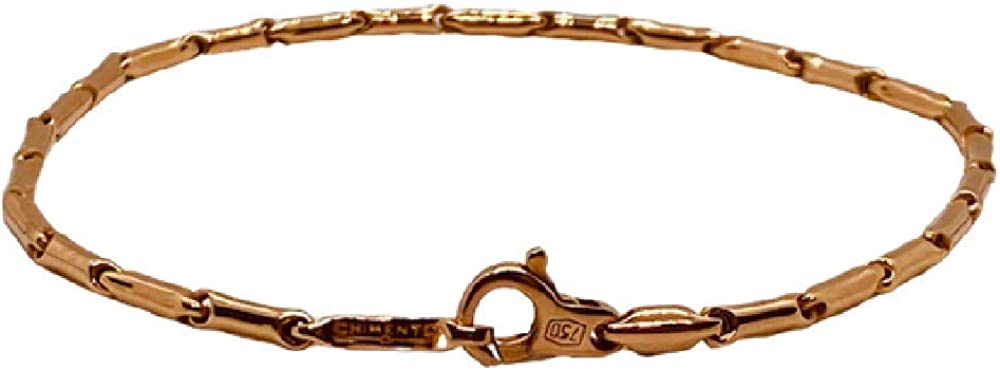 Chimento,bracciale  unisex  in oro rosa 18k  (4,10 gr)della collezione