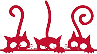 Naughty Cute Cats Vinyl Sticker Decals for Car Window Laptop Phone (6