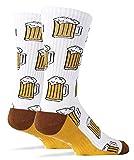 Pommaxe Oktoberfest calcetines para mujer Calcetines divertidos Estampado de cerveza Estampado divertido unisex Calcetines cálidos de otoño