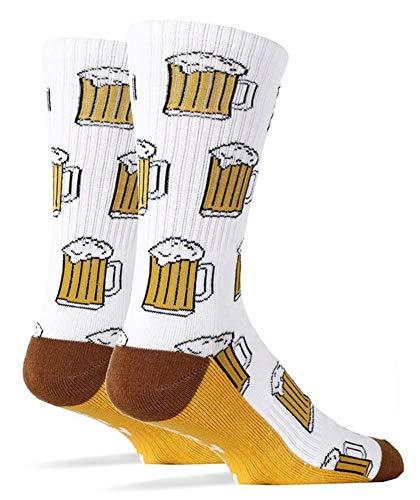 Pommaxe Damen Socken Oktoberfest Funny Socks Bier Drucken Print Spaß Warm Herbst Strümpfe