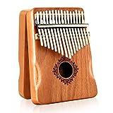 Kalimba Thumb Piano 17 Keys,Kalimba MISIFU Finger Piano Instrument with Mahogany Wood,Kalimba with Waterproof Protective Box,Tune Hammer and Study Instruction for Kids Adult Beginners(2021 New Design)