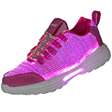 Yopaseeur Women Men Kids Fiber Optic LED Shoes Light Up Sneakers with USB Charging Flashing Festivals Party Dance Luminous Shoes
