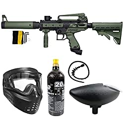 cheap Mad Dog Tipman Chrona Tactical Paintball Bronze Paintball Gun Package – Black / Olive
