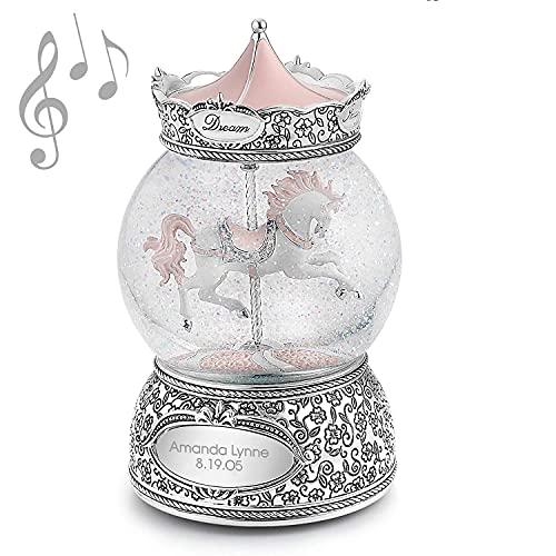 Carousel Horse Musical Snow Globe (Free Customization) - Things Remembered
