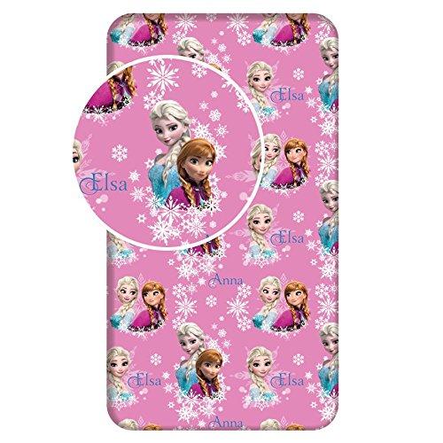 Jerry Fabrics 226125 Sábana Ajustable para Niñas, Algodón, Rosa (Pink), 200x90x25 cm