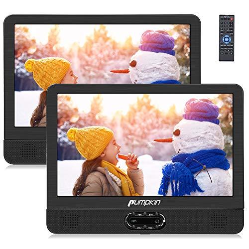 PUMPKIN 12 pollici Lettore dvd portatile doppio poggiatesta, dvd player per bambini, supporta usb/sd/mmc, region free