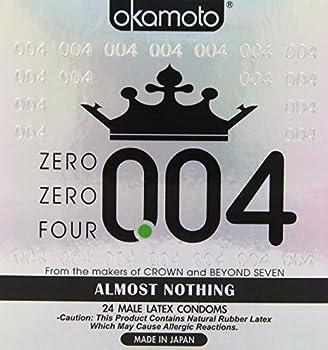 OKAMOTO 004 Condoms 24 count White 4738