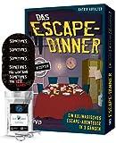 Das Escape-Dinner: EIN kulinarisches Escape-Abenteuer in 3 Gängen + 4X Escape-Sticker + 1x Metall-Knobelei
