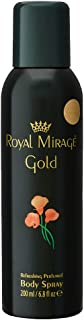 Royal Mirage Gold Body Spray for Unisex Floral 200ml