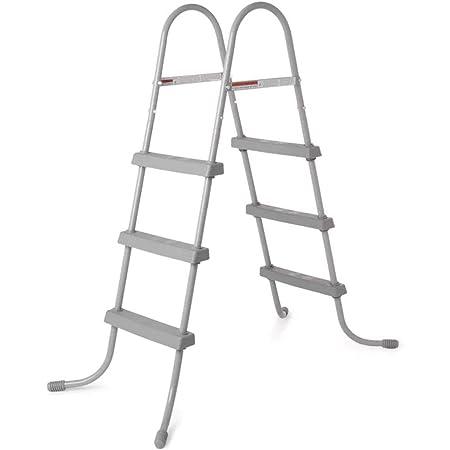 vidaXL Steel Frame Pool Ladder Non-Slip Steps 34.0