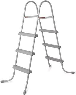 Bestway 58334E 36-Inch Steel Above Ground Swimming Pool Ladder No-Slip Steps