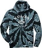 Koloa Surf Vintage Arch Logo Tie-Dye Hooded Sweatshirt,L - Black/w