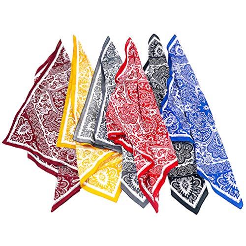 KESYOO Pañuelo de Algodón con Estampado de Pañuelo en La Cabeza Estampado Pañuelo de Pañuelo con Estampado en La Cabeza Diadema para El Pelo para Damas Mujeres Amigos (Patrón Aleatorio)