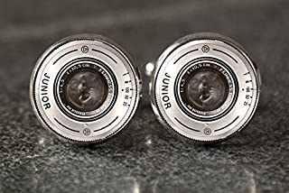 Photography Cufflinks,Lenses Cufflinks,Camera Cufflinks,Glass Round Silver Cufflinks,Art Picture Jewelry,Charm Jewelry,Shirt Cufflinks