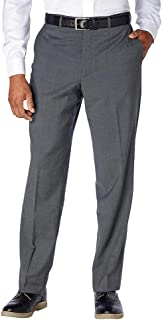 Kirkland Signature Men's Wool Flat Front Dress Pant, Grey
