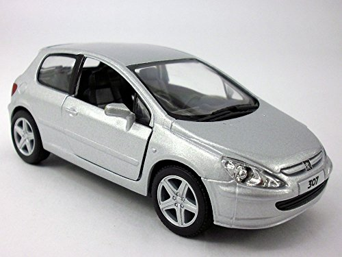 Price comparison product image 5 inch - 2001 Peugeot 307 XLI 1 / 32 Scale Diecast Model - SILVER