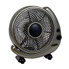 Table or Wall Mount Option 3 Speed Fan with 882 CFM Manual Control gauge 6 Foot Length Cord