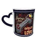 Mst3k Satellite of Love Sporty Style One Piece Magic Color Change Coffee Mug in The Sky, tazza in ceramica sensibile al calore