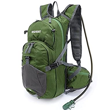 ENKNIGHT 20L Hydration Pack Waterproof Cycling Backpack with 2L Water Bladder Green