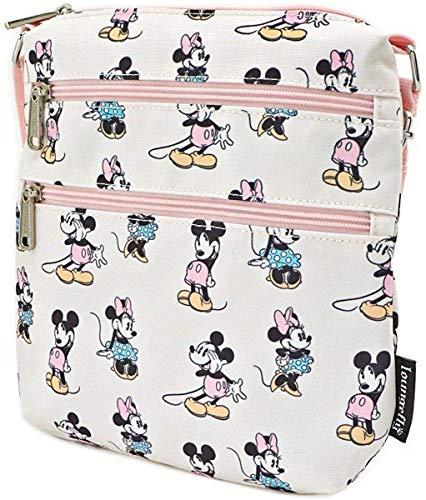 Loungefly x Disney Pastell Mickey & Minnie AOP Umhängetasche