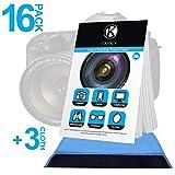 CAMKIX Pañuelos de Limpieza para Lentes 16 Paquetes / 800 Hojas + 3X Paño de Limpieza de Doble Cara – Papel Limpiador para Lentes de Cámara – Paño de Limpieza de Doble Cara para Usarlo en Pantallas