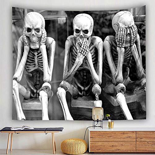 MSHAQT Tapices Meditación Skull King Anime Película De Tapiz Poliéster para Colgar En La Pared Membrana Tapiz Dormitorio Regalo De Decoración 150Cm * 250Cm