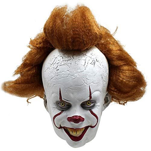 QWER Stephen King's It Mask Penny Wise Horror Clown Joker Masker Clown Masker Halloween Cosplay Kostuum Props