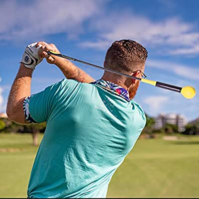 QuHeDi Golf Swing Trainer, for Improved Tempo Rhythm and Strength Flexibility, Balance, Golf Trainer Aid Equipment for Indoor Practice Chipping Hitting Golf Accessories