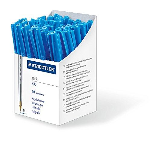Staedtler Stick 430 M-3CP5 Kugelschreiber Strichbreite M 50 Stück blau