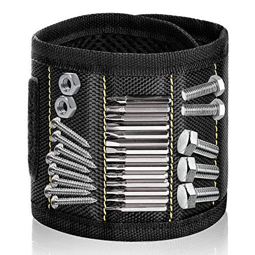 Geschenke für Männer Vatertagsgeschenk, Papa Geschenk Geburtstag, Handwerker Geschenke, Gadgets für Männer, Schrauben Magnet Armband mit 15 Magneten