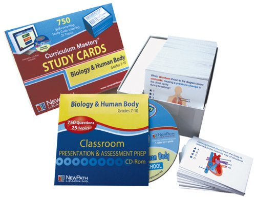 NewPath Learning Biology and the Human Body Study Card, Grade 6-10