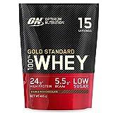 Optimum Nutrition Gold Standard 100% Whey Protéine en Poudre avec Whey Isolate, Proteines Musculation Prise de Masse, Double-Rich Chocolat, 15 Portions, 465g, l'Emballage Peut Varier