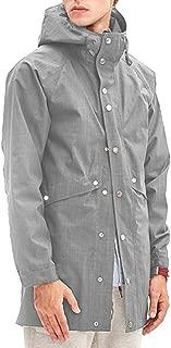 Romanstii Mens Jacket Lightweight Windproof Fashion Raincoat Mens Waterproof with Hood Long,Unisex,for Any Outdoor Activities