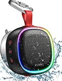 Bluetooth Speaker with RGB Lights, LENRUE IPX7 Waterproof Portable Shower Speaker w/HD Sound, TWO Pairing, Bass, 20H Playtime, Sucker, True Stereo Wireless Mini Speaker for Outdoor Party, Travel, Bath