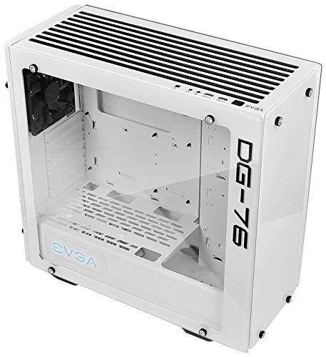 EVGA DG-76 Midi-Tower Weiß - Computer-Gehäuse (Midi-Tower, PC, Acrylnitril-Butadien-Styrol (ABS), Glas, Stahl, ATX,Mini-ATX, Weiß, 3X 140 mm)