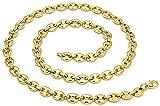 Rap Jewelry - Cadena de acero inoxidable para hombre, diseño de hip hop, color dorado y plateado, 123, dorado, bracelet