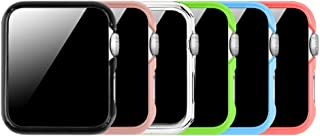 [6 Color Pack] Fintie for Apple Watch Case 38mm, Slim Lightweight Polycarbonate Hard Protective Bumper Cover for All Versions 38mm Apple Watch Series 3 (2017) / Series 2 / Series 1 Sport & Edition