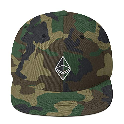 VANN'S Products LLC. Ethereum Crypto Eth Cryptocurrency Cap Embroidered Snapback Hat