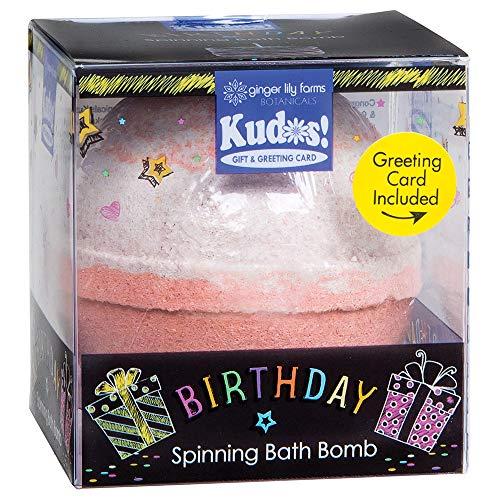 Ginger Lily Farms Botanicals kudos! Birthday Red Velvet Cake, Spinning Bath Bomb...